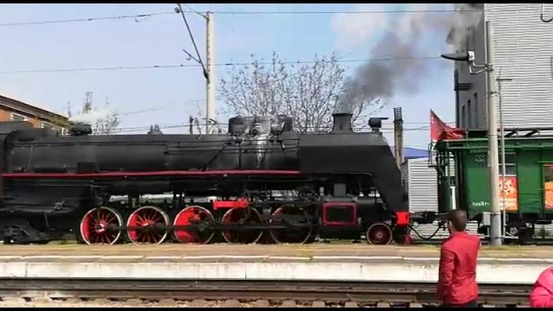 прибытие военного поезда Тимашевск
