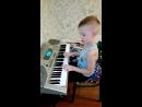 Русик, первый зачет в музыкальной школе