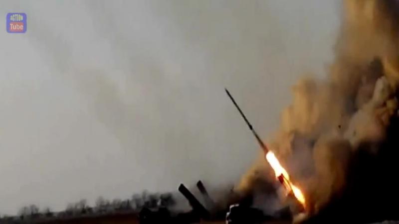 Огонь ВСУ по боевикам Ukr fire at militians