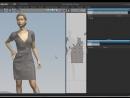 Результат надевания в 3D Julivi - Платье с драпировкой