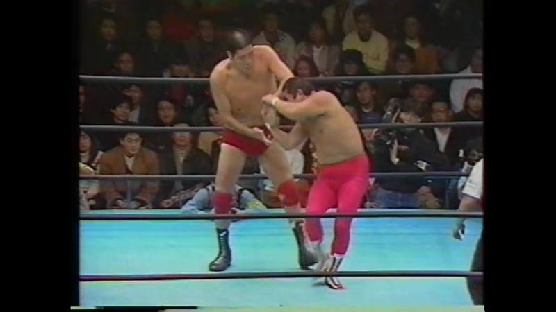 1992 01 15 Giant Baba Rusher Kimura vs Haruka Eigen Motoshi Okuma