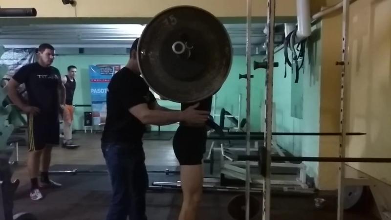 Бурлак Сергей с Кицканы 16 летт вес 56 кг присед 105