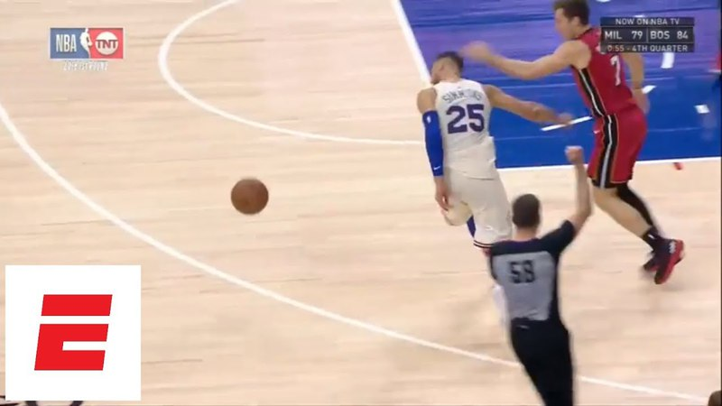 Goran Dragic hits Ben Simmons upside the head during Game 5 of Heat vs. 76ers | ESPN