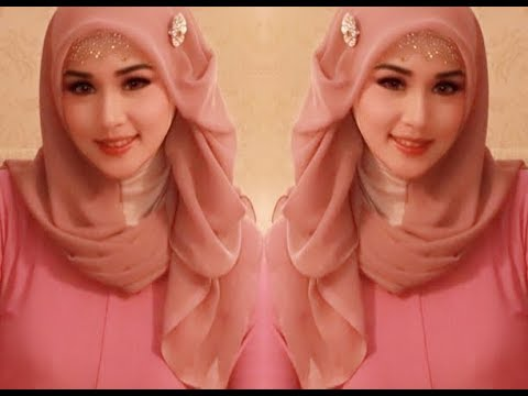 Hijab Segi Empat Pesta Simple glamor Mewah Elegan dan Trend Kekinian Hijab Wisuda