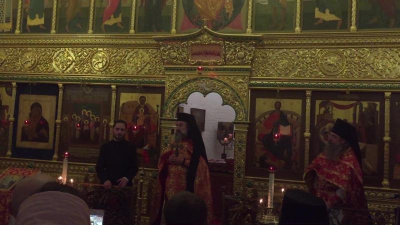 Сегодня разделил радость служения Божественной литургии с дорогим гостем из солнечного Корфу, схиархимандритом Поликарпом (Зерво