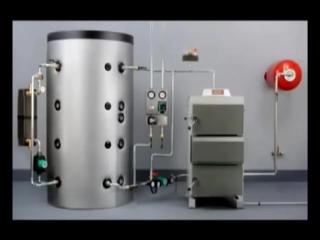 Схема обвязки котла и буферного накопителя