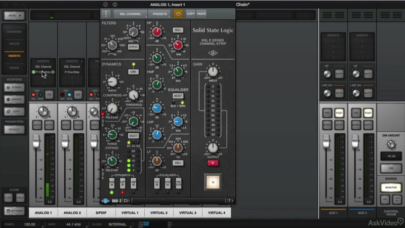 4. Effect Sends [Ask Video] Universal Audio 201: Learn The Mix Console UAD2 [2016, ENG]