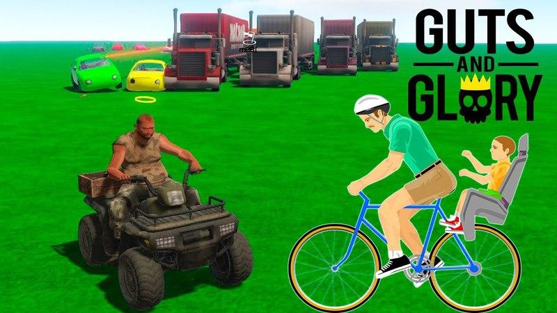 НОВЫЕ ГОНКИ! Guts and Glory (Happy Wheels в 3D) (29 серия)