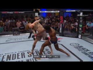 Dwight Grant def. Tyler Hill via KO (punch) at 2:08 of R2