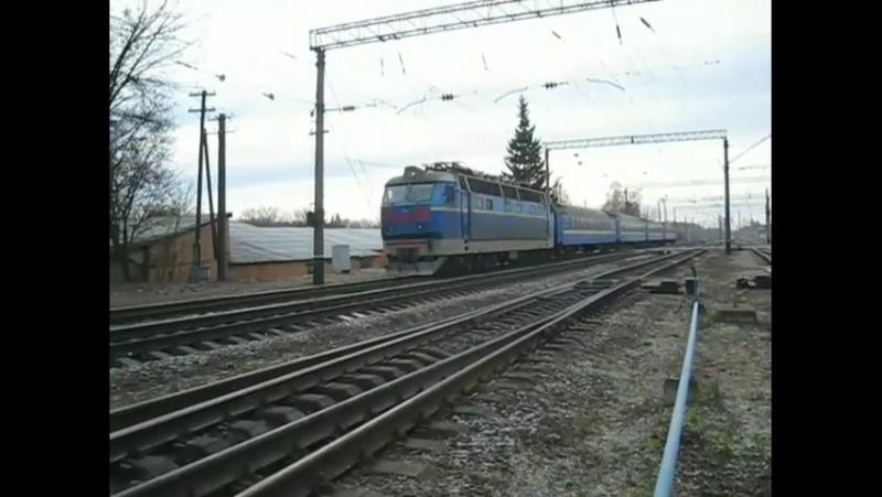 Чс4 з потягом №67 Київ- Варшава Фастів