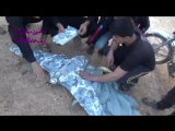Место падения Российского дрона обрабатывает артиллерия (Сирия)