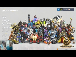 Overwatch: Вторая годовщина. Фармим сундучки