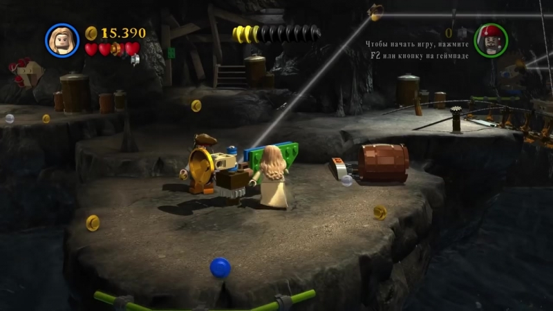 [Qewbite] LEGO Pirates of the Caribbean Прохождение - Часть 4 - ОСТРОВ
