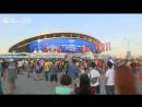 Фанаты смотрят матч Бразилия – Бельгия