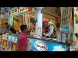 Так продают мороженое в Турции (Стамбул)