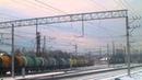 ЧМЭ3-3657 с малым грузовым поездом маневрирует по станции Нара-2, 15.12.2014