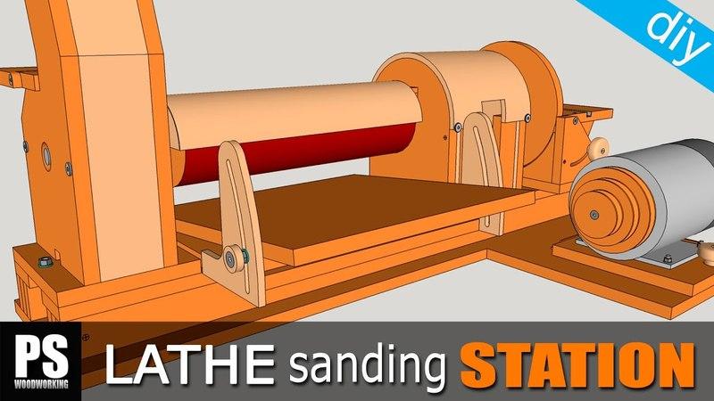 Lathe Sanding Station Thickness Sander Part1