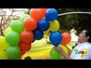 Arco de globos con tubo de PVC
