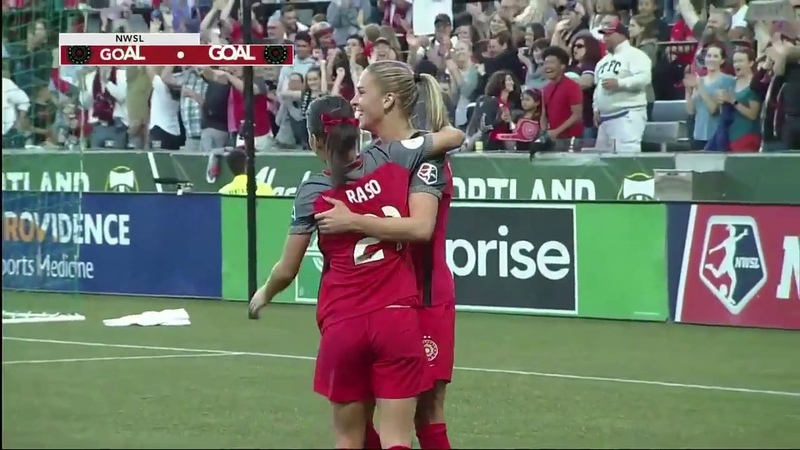 GOAL: Ana-Maria Crnogorčević gives the Thorns a 3-0 lead