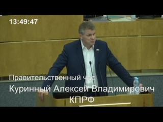 . Выступление А.В. Куринного в рамках отчета Министра здравоохранения РФ В.И. Скворцовой