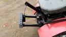 Задняя навеска на самодельный минитрактор. Самодельный отвал на минитрактор