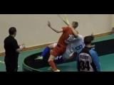 Суворов Гриня из России проводит бросок через себя ...или наоборот ...флорбол фс2018 Floorball