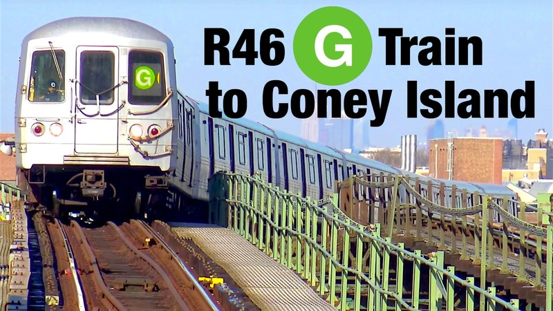 ⁴ᴷ R46 G Trains to Coney Island Action
