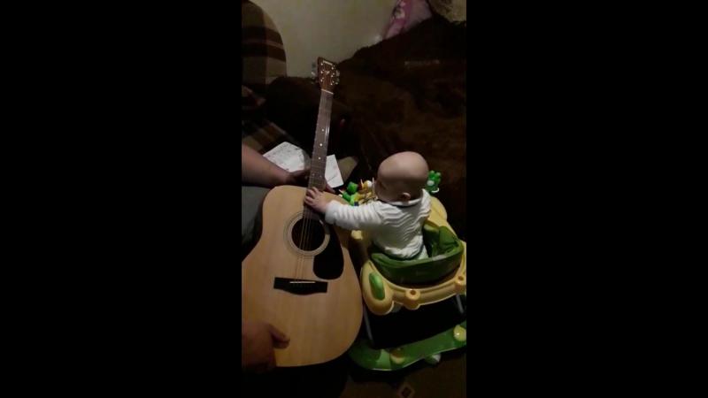 дед гитара и внук😄🎸👍