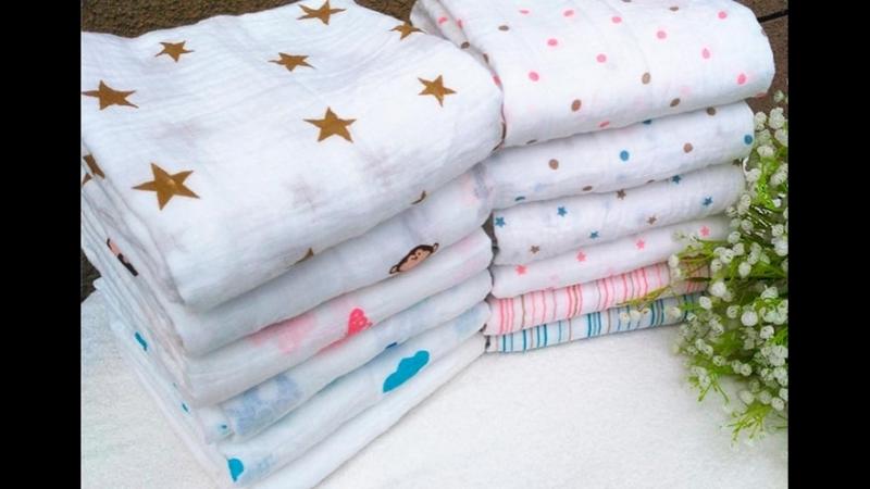 Муслиновые пеленки для новорожденных обзор и пеленание