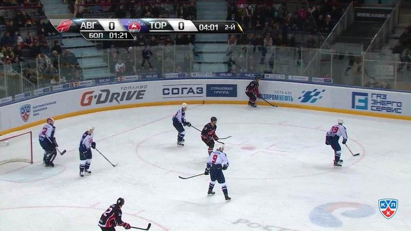 Моменты из матчей КХЛ сезона 14/15 • Гол. 1:0. Артур Лаута (Авангард) открыл счёт, отличившись в большинстве 01.02