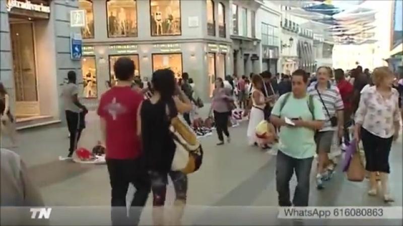 Los vendedores negroides ilegales proliferan en el centro de Madrid