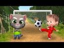 Девочка МАША из мультика Маша и Медведь Хочет играть в Футбол как КОТ ТОМ из игры Говорящий Том!