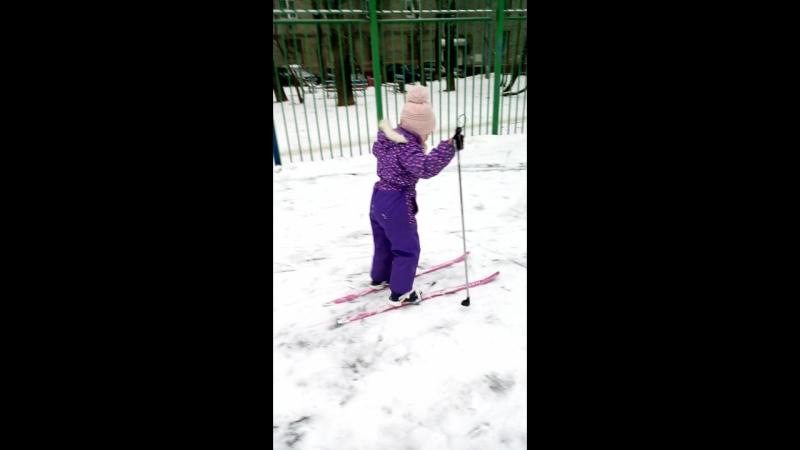 Лыжник на старте