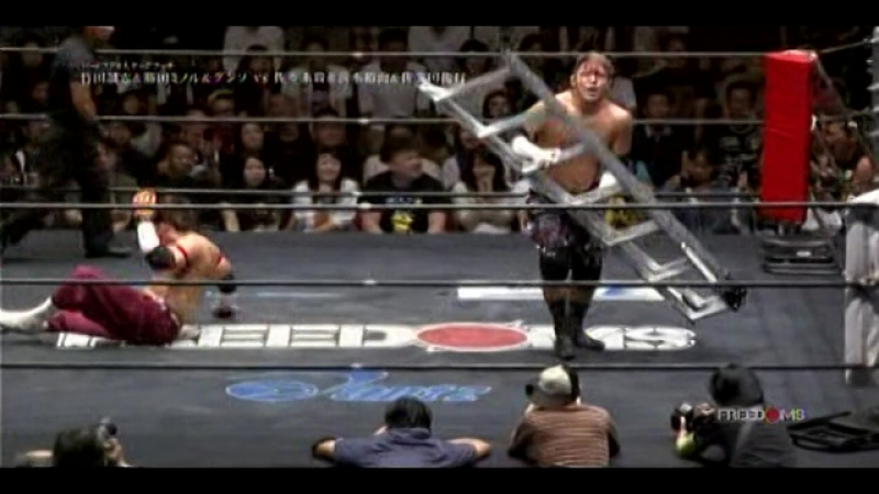 Masashi Takeda, Minoru Fujita, GUNSO vs. Takashi Sasaki, Yuko Miyamoto, Toshiyuki Sakuda (FREEDOMS - Tokyo Death Match Carnival