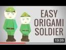 Солдат-оригами к 23 февраля. День защитника отечества