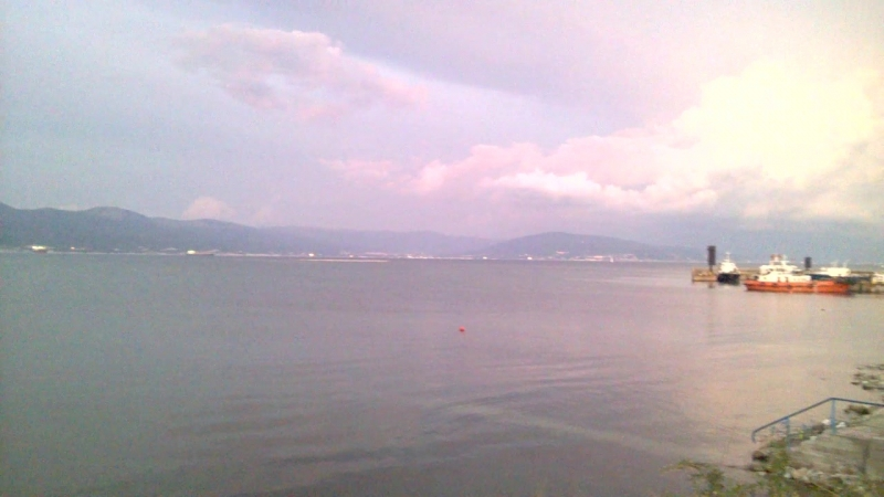 Закат над морем в Алексино