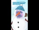 Михаил Галустян примерил новую маску снеговика