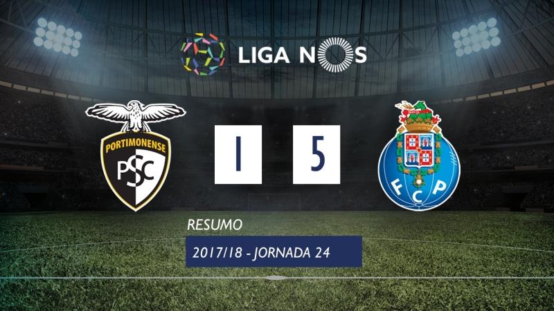 Лига НОШ 2017/18 (Тур 24): Портимоненсе – Порту 1:5