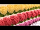 Diadema tejida con Gancho Crochet paso a paso con flores tulipanes 3d tejido tallermanualperu