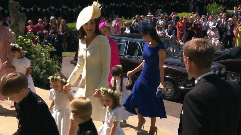 Королевская свадьба: Кейт Миддлтон прибывает с принцем Джорджем и принцессой Шарлоттой