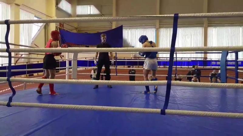 Чемпионат Мордовии по Тайскому боксу (20.01.18) Бой Тарасова Александра