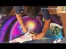 Процесс создания рисунка в технике «Spray paint art»