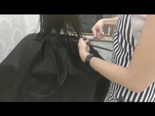 Женская стрижка волос в Казани .