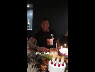 Britt Assombalonga is celebrating his birthday with a My Little Pony cake
