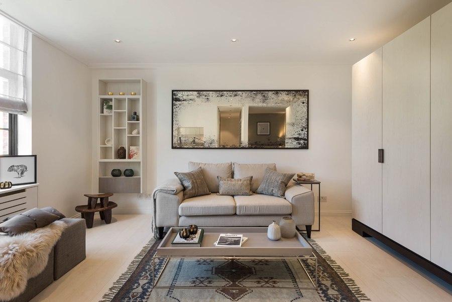 Интерьер квартиры-студии 36 м в Лондоне.