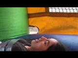 100 Layers Of Duct Tape Challenge In A Bouncy House