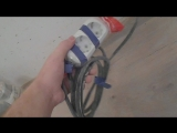 Монтаж электропроводки под кухню.