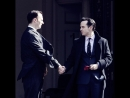 Съёмки Шерлока  Вырезанная сцена  Эндрю Скотт и Марк Гэтисс конец второго сезона