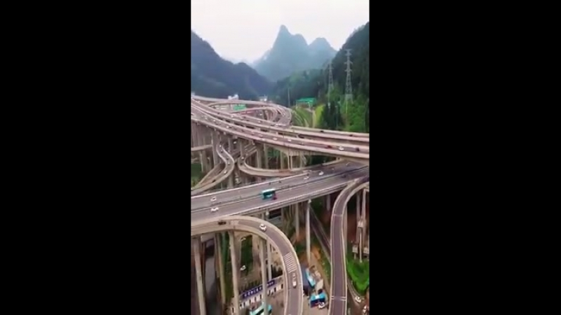 One of China's most complex interchanges...