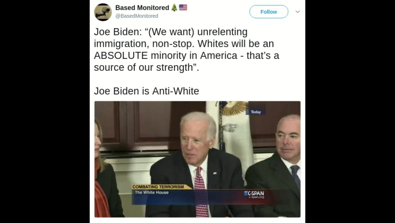 Biden Is Anti White